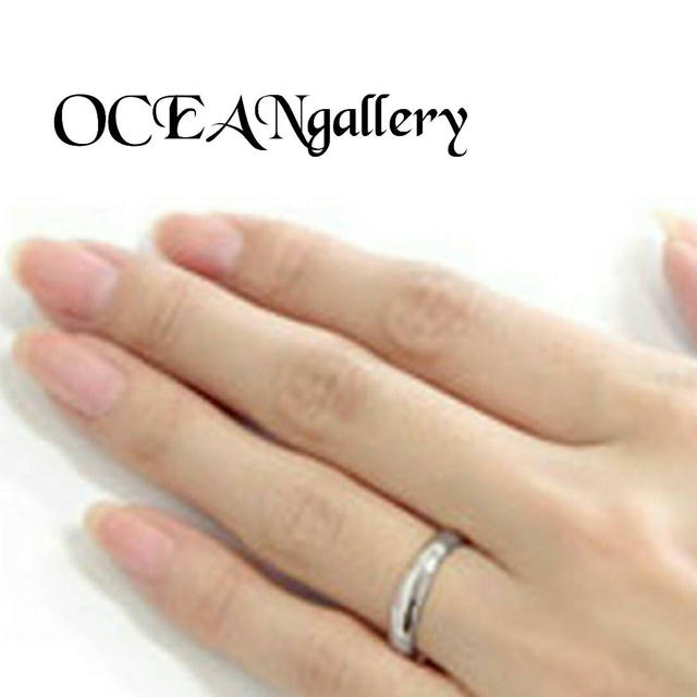 送料無料 22号 シルバー サージカルステンレス シンプル 甲丸 リング 指輪 メンズのアクセサリー(リング(指輪))の商品写真