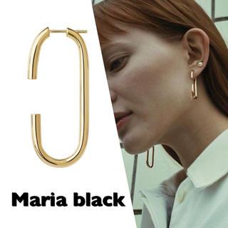 アーバンリサーチ(URBAN RESEARCH)の大人気✳︎Maria black Oval earring ゴールド 片耳用(ピアス)