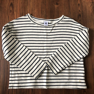 プチバトー(PETIT BATEAU)のPETIT BATEAU キッズ130cm ロングTシャツ カットソー 裏起毛(Tシャツ/カットソー)