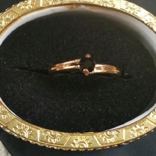 ◆1◆ブラック&ゴールドカラーのリング(リング(指輪))