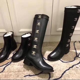 シャネル(CHANEL)のchanelロングブーツ本革 ショートブーツ FENDI ミュウミュウ大人気(ブーツ)