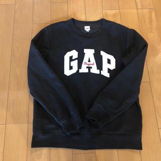 ギャップ(GAP)のGAPメンズロゴトレーナー 黒Mサイズ値下げ(スウェット)