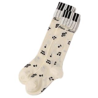 メゾピアノ(mezzo piano)の新品メゾピアノ ピアノハイソックス 2点セット(靴下/タイツ)