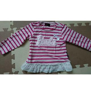 バービー(Barbie)の女児90 Barbie フリル 長袖シャツ(Tシャツ/カットソー)