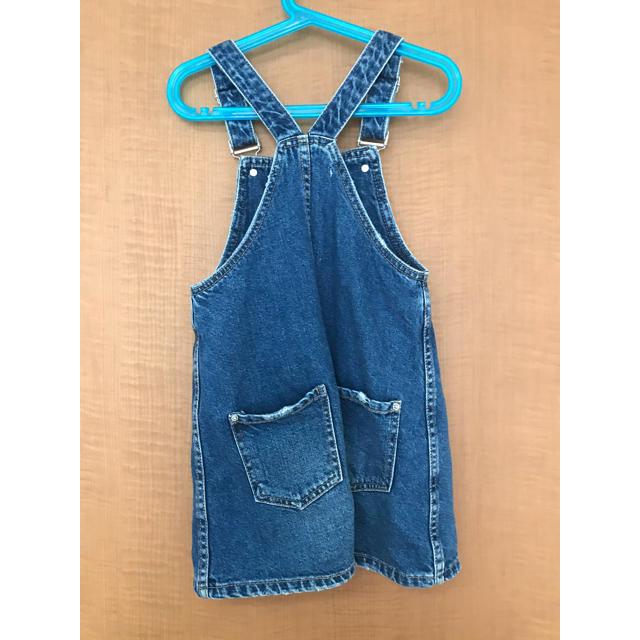 ZARA KIDS(ザラキッズ)のZARAキッズ デニムジャンパースカート 116cm キッズ/ベビー/マタニティのキッズ服 女の子用(90cm~)(ワンピース)の商品写真