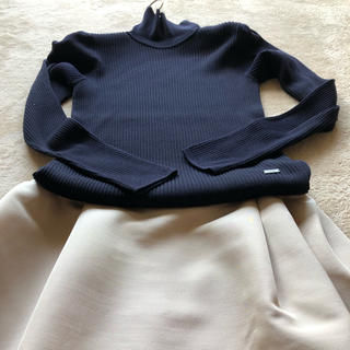 フォクシー(FOXEY)のフォクシー最高級シルクカシミヤアンテークskirt(ひざ丈スカート)
