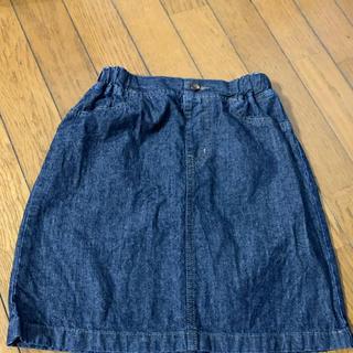 ジーユー(GU)のほぼ未使用❗️GU140㎝ガールズ デニムスカート(スカート)