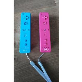 ウィーユー(Wii U)のWiiU Wii コントローラー ストラップ付 二本セット(その他)