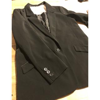ジーユー(GU)のテーラードジャケット 黒(テーラードジャケット)