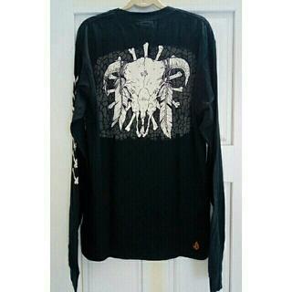 ボルコム(volcom)のVOLCOM ボルコム  ブラックロングTシャツ M(Tシャツ/カットソー(七分/長袖))