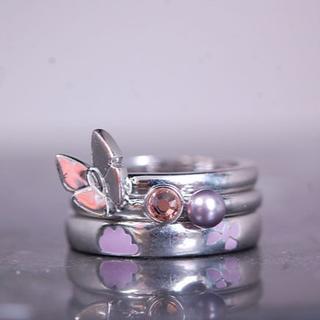 ディオール(Dior)のChristian Dior クリスチャンディオール 3連 リング(リング(指輪))