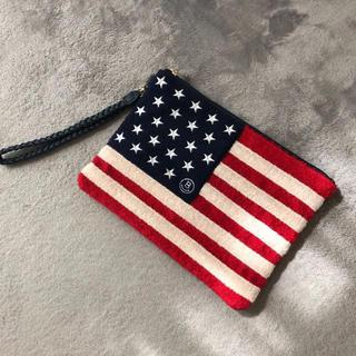 ビームス(BEAMS)のビームス BEAMS クラッチバッグ アメリカ国旗(クラッチバッグ)