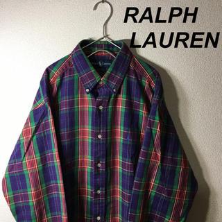 ラルフローレン(Ralph Lauren)の古着 ラルフローレン チェックシャツ BDシャツ 長袖 メンズ(シャツ)