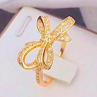 【13号】         ribbon ring18KGP(リング(指輪))