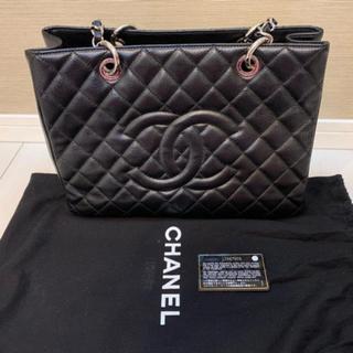 CHANEL - シャネル <美品> グランドショッパートート GST バッグ