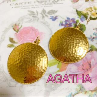 アガタ(AGATHA)のAGATHA ゴールド プレート ピアス  丸 大ぶり(ピアス)