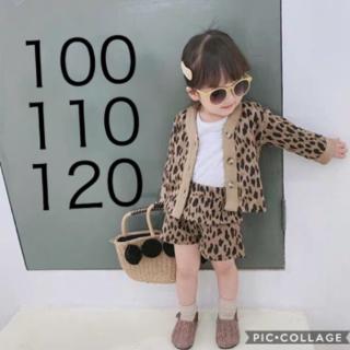 韓国子供服 セットアップ ヒョウ柄 レオパード  秋冬