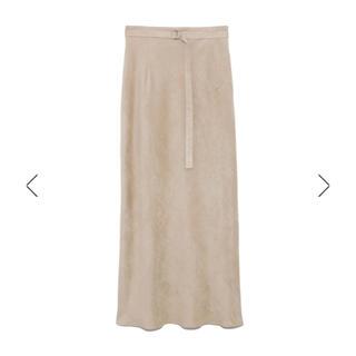 スエードナロースカート