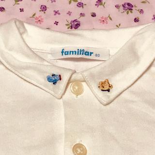 familiar - ファミリア 襟刺繍 ブラウス 80size