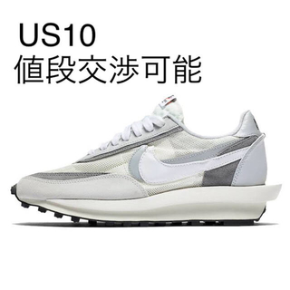 """NIKE - Sacai x Nike LDWaffle """"Summit White""""US10"""