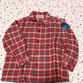 ミキハウス(mikihouse)のミキハウス レトロ 長袖ブラウス 袖刺繍 90size(ブラウス)