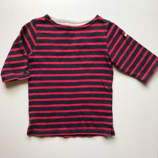 ビームス(BEAMS)のビームスミニ キッズボーダーTシャツ 七分袖 90(Tシャツ/カットソー)