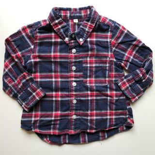 ムジルシリョウヒン(MUJI (無印良品))の無印良品 キッズ チェックシャツ 90(ブラウス)