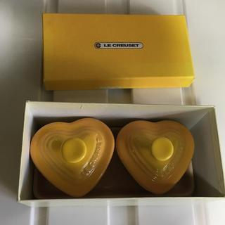 ルクルーゼ(LE CREUSET)のル・クルーゼ プチランカンダムール 箱あり イエロー 食器 美品 (食器)