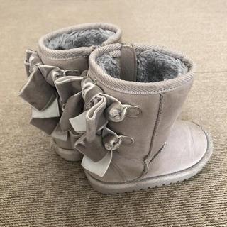 プティマイン(petit main)のプティマイン リボン ブーツ 14cm(ブーツ)