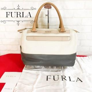 フルラ(Furla)のFURLA フルラ バイカラー レザー ハンドバッグ(ハンドバッグ)