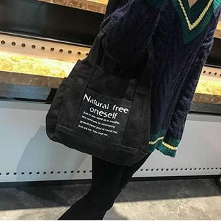 ✰即購入歓迎✰black♪ 黒 ロゴトート キャンバス 大容量(トートバッグ)