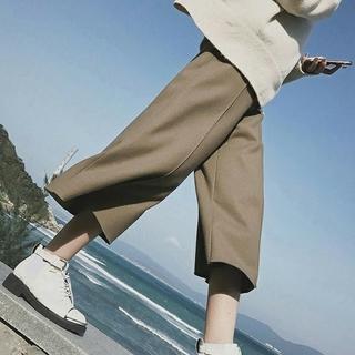 【送料無料♪】ハイネックニットセーター&高見えワイドパンツ 2点セットアップ(ニット/セーター)