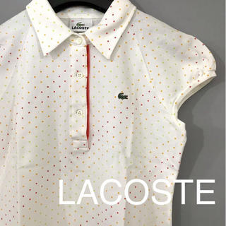 LACOSTE - 【良品】 ラコステ LACOSTE ポロシャツ 半袖 ドット柄 水玉模様