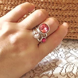 【13号:1点限】  レッドピンク&パステルピンク ハイデザイン リング(リング(指輪))