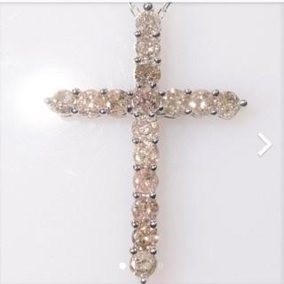 トクトクジュエリー ダイヤモンド 1カラット クロス 18金 ネックレス(ネックレス)