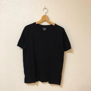 ジーユー(GU)のGU カラーTシャツ ブラック(Tシャツ(半袖/袖なし))