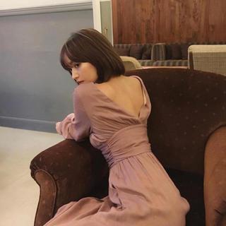 mangata ワンピース ピンク 0 新品未使用タグ付き(ロングワンピース/マキシワンピース)
