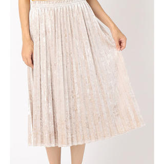 コムサイズム(COMME CA ISM)のコムサイズム ベロアプリーツスカート(ロングスカート)