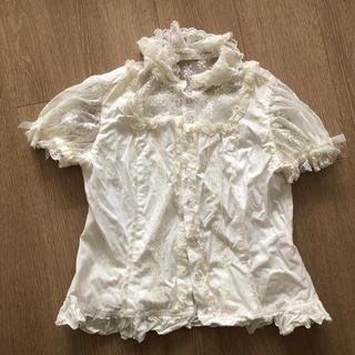 Angelic Pretty - 半袖レース ブラウス 白