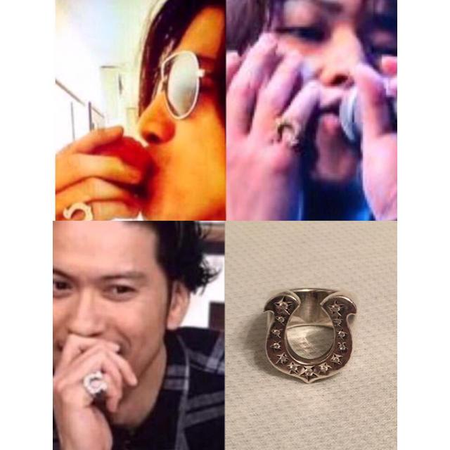 TENDERLOIN(テンダーロイン)の美品 10号 テンダーロイン ホースシューリング ダイヤ入り チックサイズ メンズのアクセサリー(リング(指輪))の商品写真