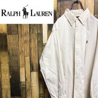 Ralph Lauren - 【激レア】ラルフローレン☆ワンポイント刺繍ロゴコーデュロイシャツ 90s
