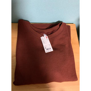 ユニクロ(UNIQLO)のユニクロ ワッフルクルーネックt 新品(Tシャツ(長袖/七分))