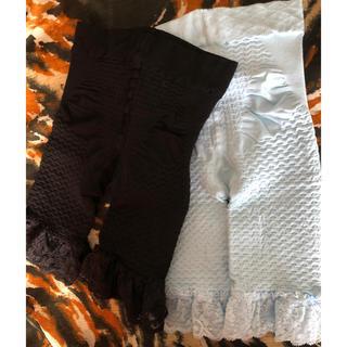 シャルレ(シャルレ)のガードル ショーツ L 二枚セット ブルー ブラック 黒(ショーツ)
