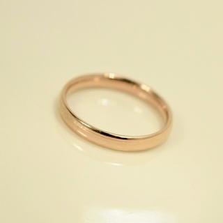 名入れ無料 平仮名 漢字可  スリム甲丸 ゴールドカラー リング 1個 (リング(指輪))