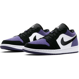 NIKE - 送料込 NIKE AIR JORDAN 1 LOW COURT PURPLE