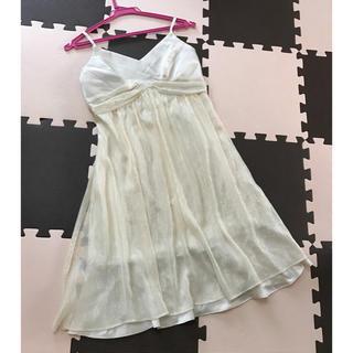 スコットクラブ(SCOT CLUB)のスコットクラブ  ドレス シャンパンゴールド Mサイズ 9号 日本製(ミディアムドレス)