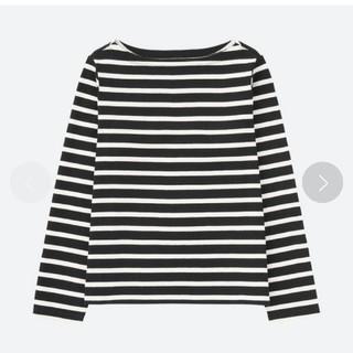 ユニクロ(UNIQLO)のユニクロ ボーダーロングTシャツ(Tシャツ(長袖/七分))