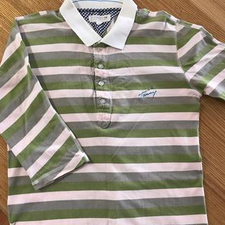 トミーヒルフィガー(TOMMY HILFIGER)のTOMY メンズ7分丈シャツ Mサイズ(Tシャツ/カットソー(七分/長袖))