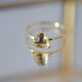 アガット(agete)のCloche クロチェ イエローベリル リング 11号(リング(指輪))