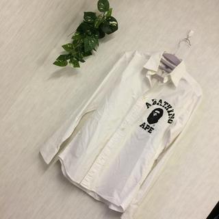 A BATHING APE - ★アベイジングエイプ★胸ロゴ 長袖 シャツ